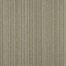 C651 Light Brown Green Ivory Striped Country Upholstery Fabric By The Yard