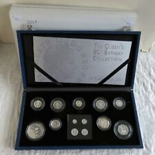 2006 QUEEN'S 80th BIRTHDAY 13 COIN SILVER PROOF SET WITH MAUNDY -  complete
