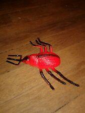 "vintage 1998 Large Beetle Figurine, 6.5"" Long"", plastic by Weevl Free Ship"