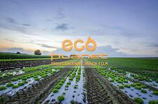 1Mil 2.7ft x 50ft Black Bio-degradable Plastic Mulch Gardening Farming Film