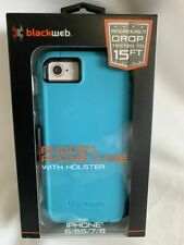 BLACKWEB IPHONE RUGGED CASE WITH HOLSTER TEAL  6/6S/7/8 BRAND NEW