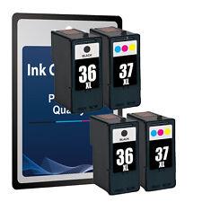 4 Ink Cartridges for Lexmark 36 &37 -X3650 X4650 X5650 X6650 X6675 Z2420