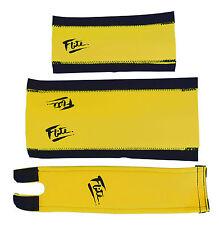 FLITE NEO mid school BMX neoprene foam padset pads YELLOW W/ BLACK 80's LOGO
