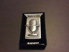ZIppo lighter Retro Microphone  stunning detail new with box.