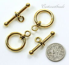 12mm Anna Toggle Clasp Sets, TierraCast,  Antiqued Gold Plated Sets, 6026
