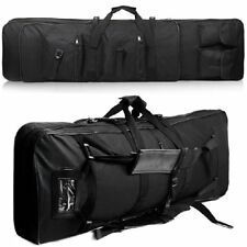 "47"" Long Black 600D Soft Padded Tactical Gun Case AR Bag Assault Rifle Storage"