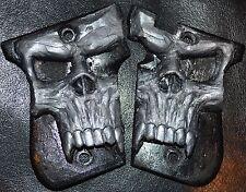 Phoenix Arms HP22 HP25 pistol grips large pearl skull on black plastic
