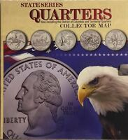 COLLECTOR'S MAP - STATE SERIES QUARTERS INCLUDING TERRITORIAL ISSUES - BEAUTIFUL