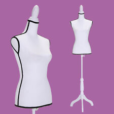 Torso Female Mannequin Clothing Dress Form Display w/ Wooden Tripod Stand New