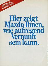 Mazda Prospekt 1982 Autoprospekt Broschüre RX-7 626 929 323 Coupé Kombi GT Auto