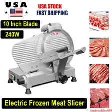 Electric Commercial Frozen Meat Slicer Machine 10 240w Kitchen Deli Food Cutter