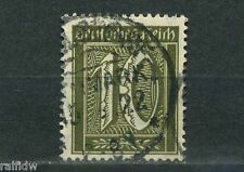 Dt. Reich 10 Pfg. Ziffer 1922 WZ Waffeln Michel 178 geprüft (S8830)