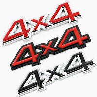 Metal 4X4 Chrome Logo 3D Decal Emblem Badge Sticker Car Rear Trunk Tailgate OEM