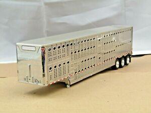dcp silver/chrome tri axle Wilson cattle pot trailer new no box 1/64