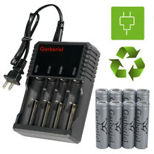 Garberiel Flat Top 18650 Battery Rechargeable 3.7 Li-ion Batteries for Torch USA