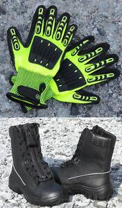 Rettungsdienst-Schnürstiefel +TH-Handschuhe N (Rettungsdienst-Stiefel Feuerwehr)