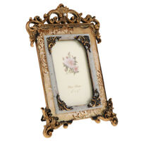 Retro Style Resin Flower Photo Frame Picture Frame Home Decoration 4 x 6''
