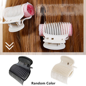 12PCS Plastic Hot Roller Clips Hair Curler Claw Clamps for Women Barber Salon