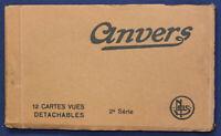 12 Ansichtskarten Postkarten Anvers um 1920 Belgien Fotografie Landeskunde sf