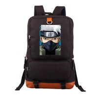 Naruto Sharingan Kakashi Backpack Shoulder Laptop travel Student bag Rucksack