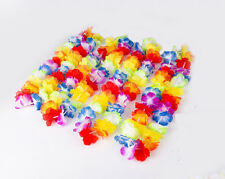 12PCS Hawaiian Beach Lei Leis Flower Necklace Decorations Tropical Luau Party