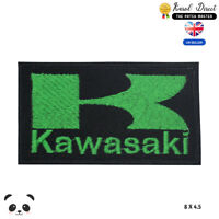 Kawasaki Logo Motor Bike Embroidered Iron On Sew On PatchBadge For Clothes etc