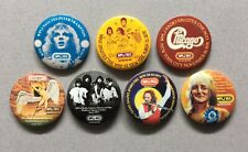 Wplj 95.5 Radio Rock Concert Pinback Buttons, Led Zeppelin, The Who 1976, 1977