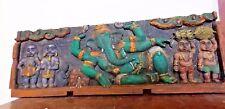 RELIGIOUS EDH Antique Ganesh Temple Wall Panel Ganesha Statue HinduGod Sculpture