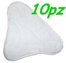 SET 10 PANNI MICROFIBRA PER SCOPA A VAPORE X5 H2O MOP H20  CON VELCRO PAVIMENTO