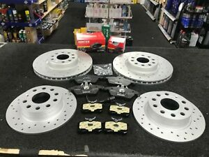 FOR AUDI A5 2.0 3.0 TDI TFSI QUATTRO FRONT REAR DRILLED BRAKE DISCS AND PADS SET