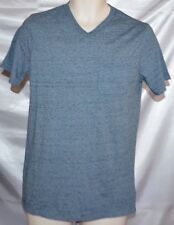 NEW Mens MOSSIMO Pocket Tee V-Neck Marble Blue Foil T-Shirt Top size S