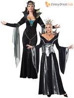 Ladies Sexy Evil Queen Sorceress Fairytale Womens Halloween Fancy Dress Costume