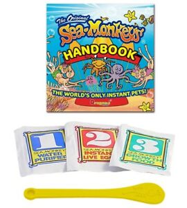 Sea Monkeys Instant Life Pack Includes Water Purifier Eggs Food & Spoon