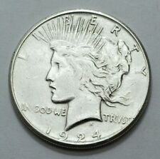 1924-S Peace Dollar SUPERB Key Date Silver US Coin .