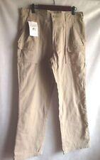 GUIDE GEAR Pants Men's Khaki Flannel-Lined Outdoorsman Hiking Trekking 34x32 NEW