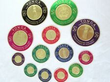 Tonga Stamps Set of 13 Gold Coin Commemorative Mint Condition