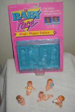 #9821 NEW Displayed Vintage Galoob Magic Diaper Babies Figures