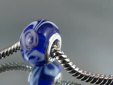 925 SILVER STAMPED MURANO GLASS BEAD FOR EUROPEAN STYLE CHARM BRACELETS #DC 274