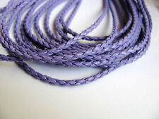 1-4 m Kunstlederband geflochten cordbraided Schmuckband Schmuckkordel ab 0,70€//m