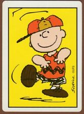 Playing Cards 1 Single Card Old Wide CHARLIE BROWN Dancing SCHULZ Art Peanuts