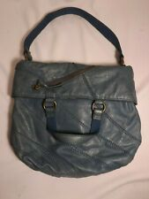 LUCKY BRAND Hobo-Slouch Tote Shoulder Handbag/Purse Blue ITALIAN LEATHER