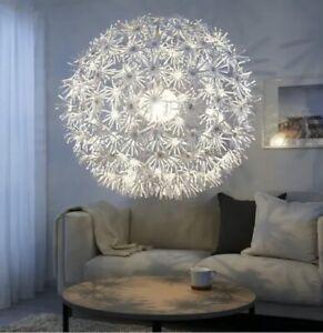 "NIB IKEA MASKROS PENDANT CEILING LIGHT LAMP 22"" CHANDELIER WHITE HANGING"