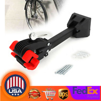 Wall Mount Bike Cycle Repair Stand Folding Clamp Bicycle Storage Rack Portable