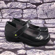 Work Wonders by Dansko Clover Women Gray Leather Mary Jane Clogs Sz 36 US 5.5-6
