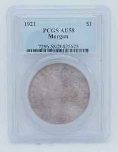 1921 $1 Morgan Silver Dollar PCGS AU 58