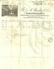 1841 1D RED NEWCASTLE ON TYNE BLACK MALTESE CROSS ILLUSTRATED WHEATLY IRON MERCH