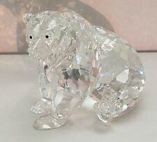 """Swarovski Figurines, Grizzly Bear, 3 X 3.5"""", Mint,"""