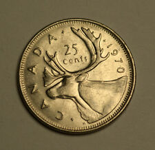 1970 - CANADA - Hard to Find 25¢ Quarter - Circulated