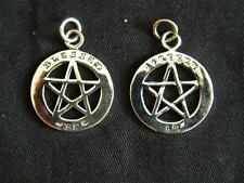 925 plata esterlina Blessed Be Pentagrama Colgante/autor/Brujería/wicca/Goth