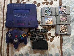 Nintendo 64 Funtastic Grape Purple + 5 Games